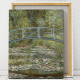 claude monet bridge over water lily pond