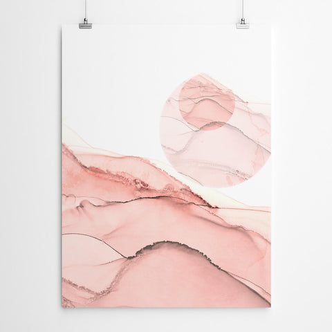 Blush Pink Abstract Canvas Print
