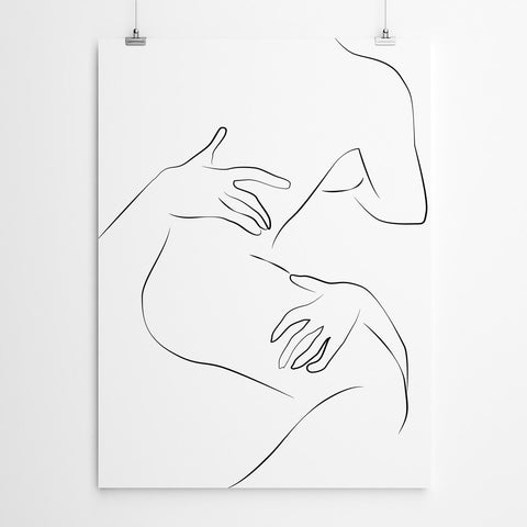 Couple Line Drawing Art