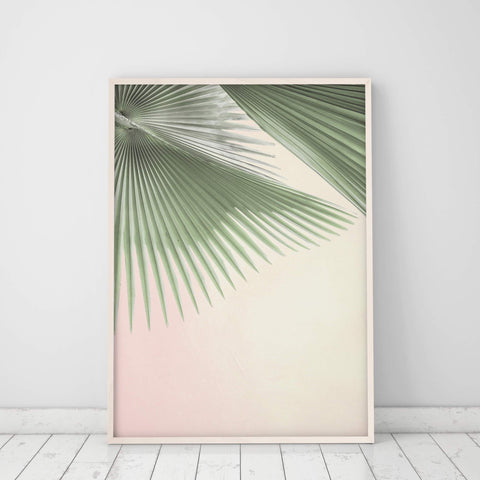 fan palm leaf wall art
