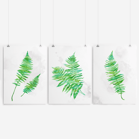 Wall decor fern leaf art semi matte print