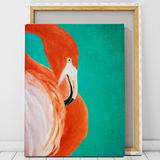 flamingo canvas print wall art
