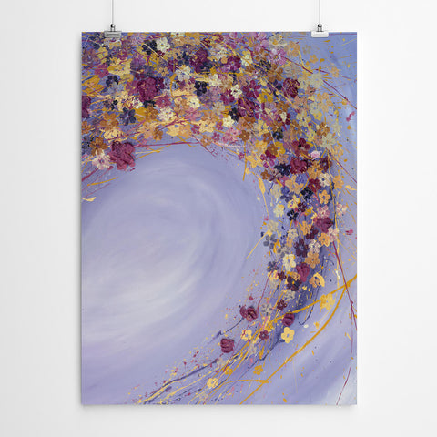 Abstract Floral Painting Wall Art Print