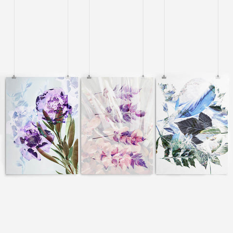 Abstract Floral Wall Art Set