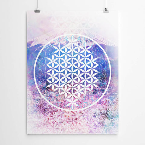 Flower of Life Sacred Geometry Mandala Print