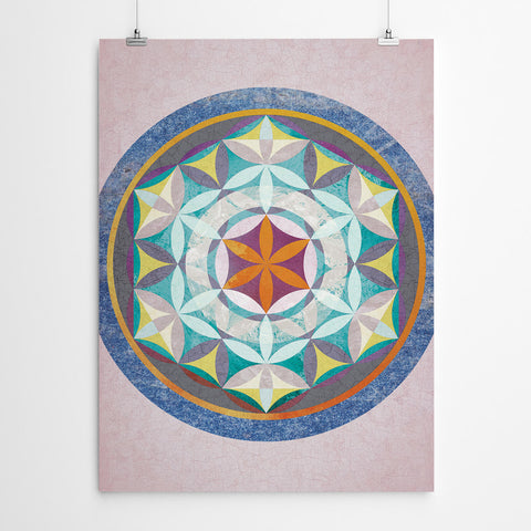 Flower of Life Mandala Art