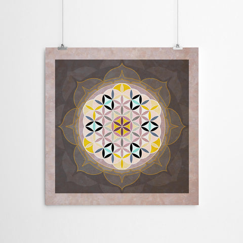 Flower of Life Mandala Wall Art