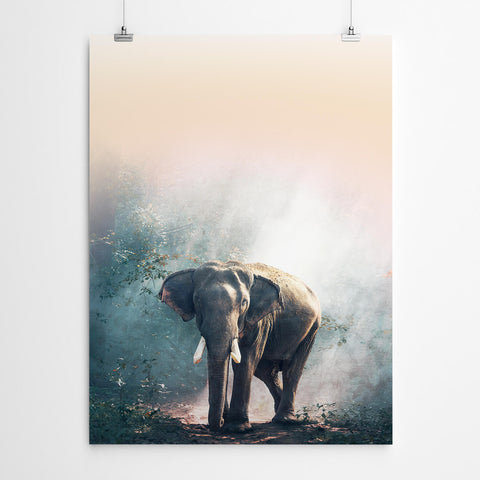 Forest Elephant Wall Art