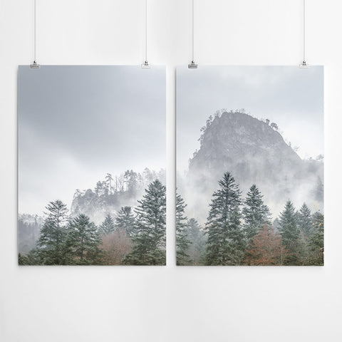 Forest And Mountain Wall Art Print