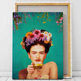 frida kahlo tea art