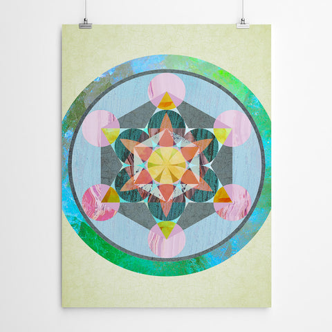 Fruit of Life Sacred Geometry Mandala Art