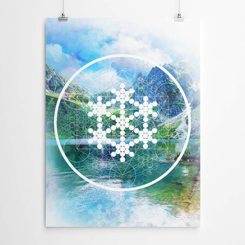 Fruit of Life Sacred Geometry Mandala Print