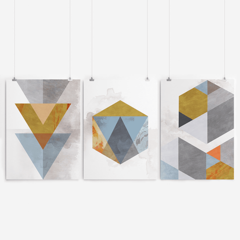 geometric print set artworld