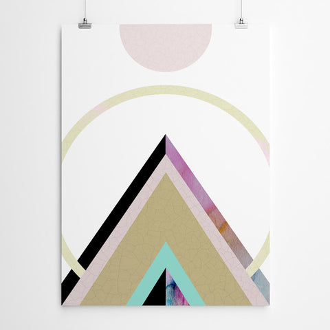 Chic Geometric Mountain Wall Art