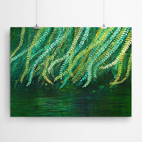 Weeping Willow Tree Painting Art Print