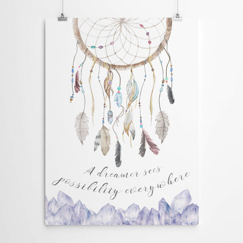 Dream Catcher Watercolour Art