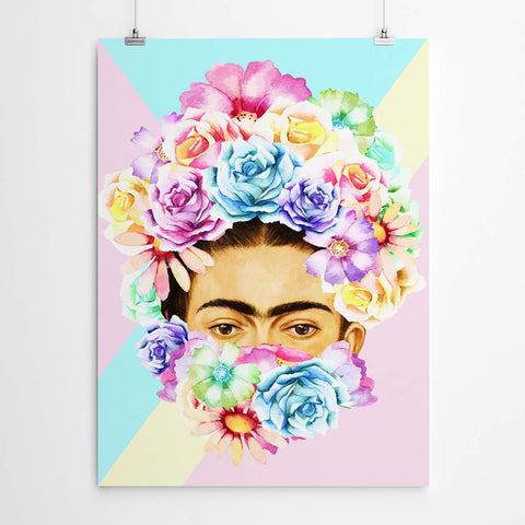 hipster frida kahlo wall art