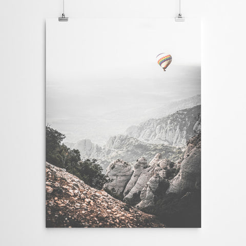 Hot Air Balloon Landscape Art