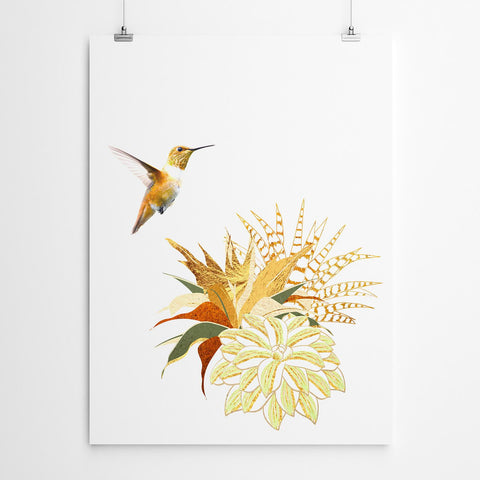 hummingbird wall art print