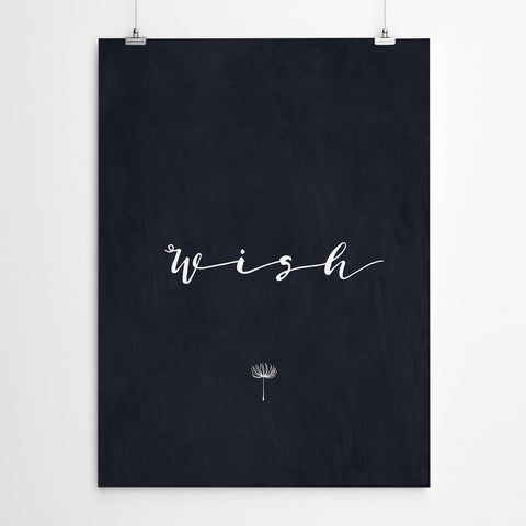 Wish Typography Wall Art Prints