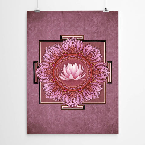 Lotus Mandala Geometry Print