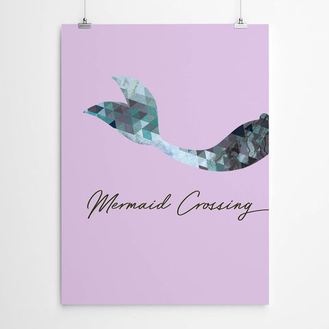 Mermaid Crossing Kids Wall Art Print