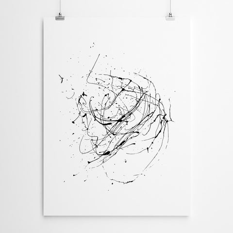 Black And White Abstract Art Canvas
