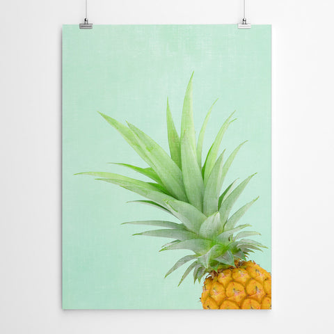 Mint Green Pineapple Wall Art Print