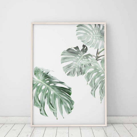 monstera leaf wall art