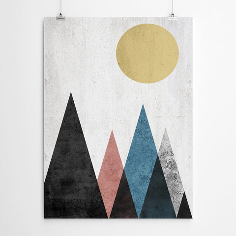Mountains Geometric Art Print