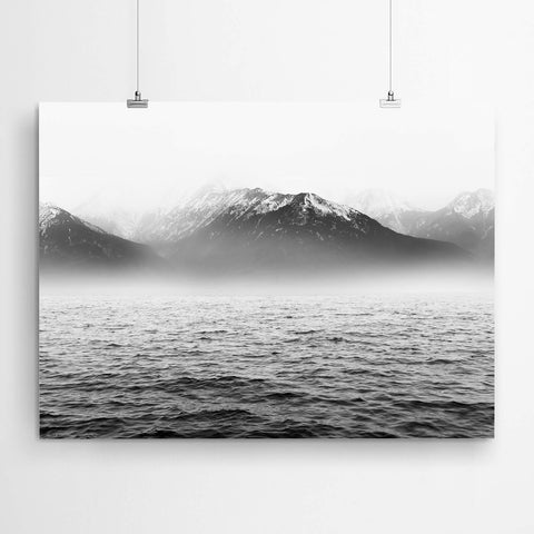 Mountain Ocean Art Print