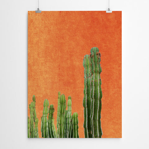 Orange Cactus Wall Art