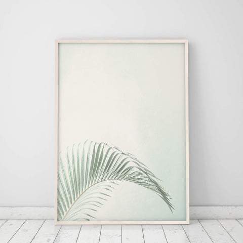 palm leaf wall art