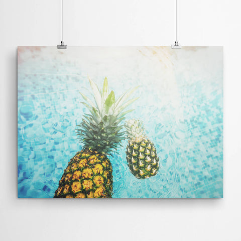Summer Pineapple And Pool Art
