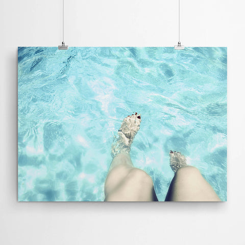 Feet In Pool Wall Art Print