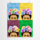 pop art frida kahlo wall art