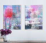 set-of-2-watercolor-abstract-prints the white wall