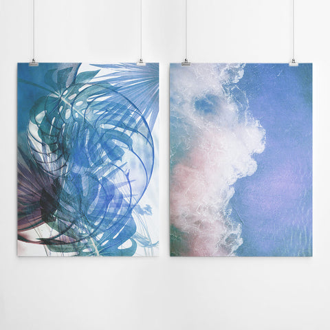 Abstract Beach Wall Art Set