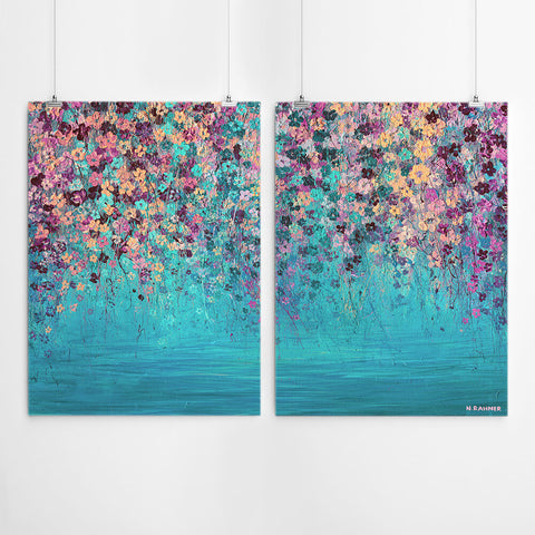Flower Painting Wall Art Set