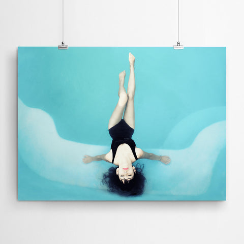 Pool Fashion Photography Canvas Art Prints