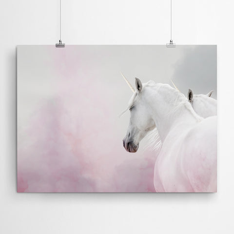 Purple Unicorn Wall Art Print