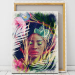 Tropical African Woman Artwork