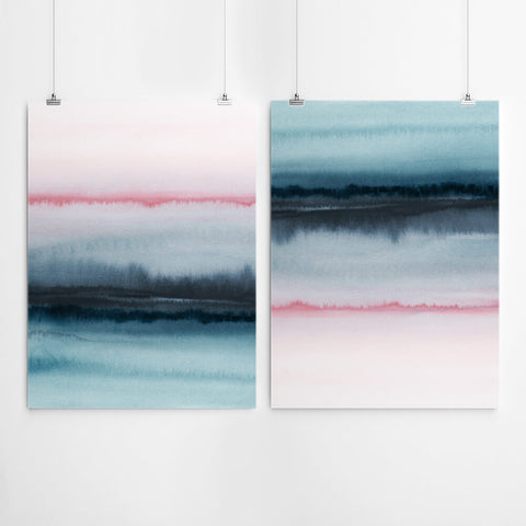Watercolour Abstract Canvas Set