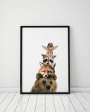 woodland-animal-nursery-wall-art