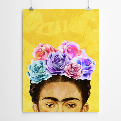 yellow frida Kahlo wall art