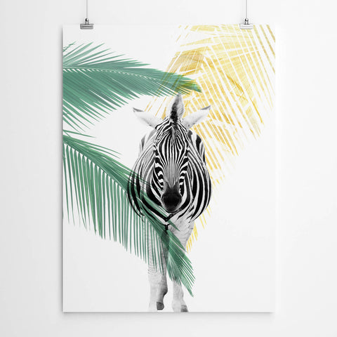 Zebra African Decor Wall Art