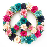Paper Flower Embellished Peace Sign