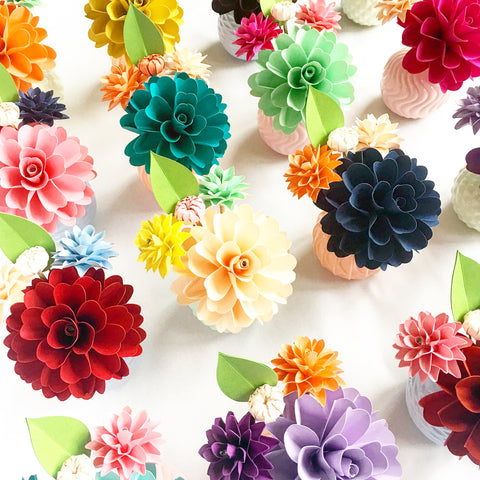 Paper Flower Bud Arrangement