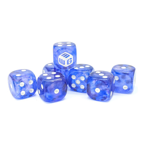 Limited - Erie Mist MiniWarGaming Dice Set - 7 6-Sided Dice (7D6)