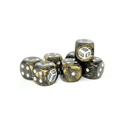 Limited - Gasoline MiniWarGaming Dice Set - 7 6-Sided Dice (7D6)